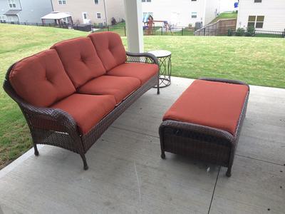 Better Homes And Gardens Azalea Ridge Outdoor Sofa, Seats 3