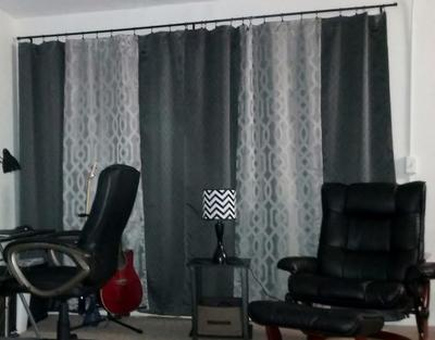 Walmart Curtains For Living Room Impressive Mainstays Jacquard Panel Pair  Walmart Review