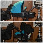 Carriage and infant car seat carrier