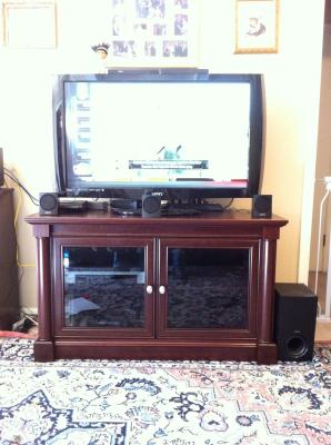 Better Homes and Gardens Ashwood Road Cherry TV Stand for TVs up