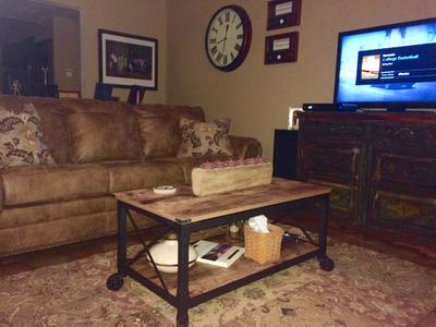 Better Homes And Gardens Rustic Country Coffee Table Antiqued Black Pine Finish Walmart Com