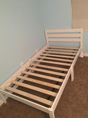 dontao wooden twin bed multiple colors walmartcom - Wooden Twin Bed Frame