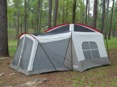 Wenzel 16u0027x11u0027 Klondike 8 Person 3 Season Screen Room C&ing Tent Blue | 36424 - Walmart.com & Wenzel 16u0027x11u0027 Klondike 8 Person 3 Season Screen Room Camping Tent ...