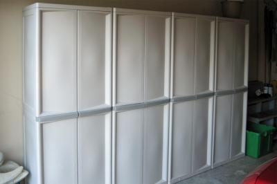 Sterilite Heavy Duty Adjule 4 Shelf Base Garage Storage Cabinet 01428501 Com