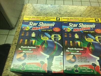 As Seen on TV Star Shower Laser Motion, Christmas Lights - Walmart.com