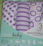 ideal baby 3 pack muslin swaddles by aden +anais