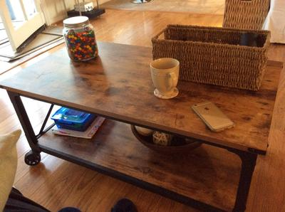 Better Homes and Gardens Rustic Country Coffee Table for TVs up to