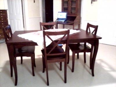 walmart dining table canada round glass better homes gardens road brown cherry black