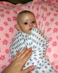 Brielle loves her muslin swaddle