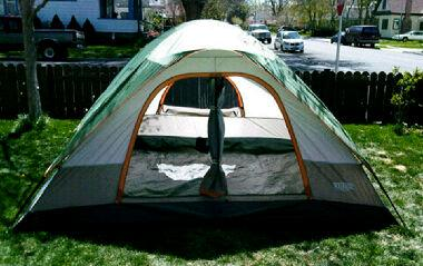 Wenzel Pine Ridge 4-5PersonTent Green and Light Gray10u0027 x 8u0027 - Walmart.com : ridge tent - memphite.com