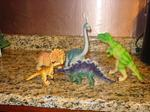 Dinosaurs out of box.