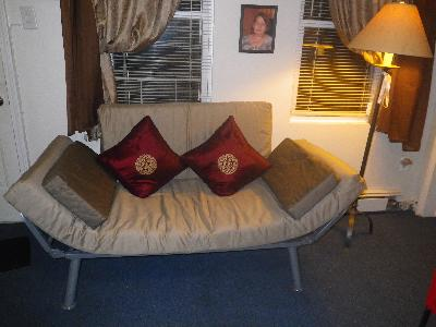 Perfect Euro Metal Arm Futon Brownstone Amp Driftwood Walmartcom