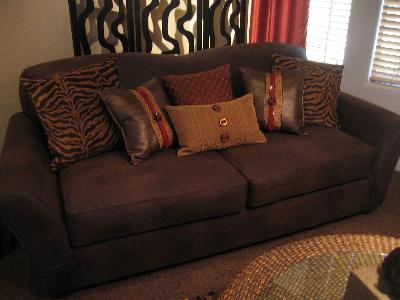 Sure Fit Stretch Leather 2 Piece Sofa Slipcover, Brown   Walmart.com