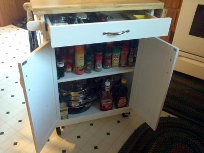 mainstays kitchen island cart, multiple finishes - walmart