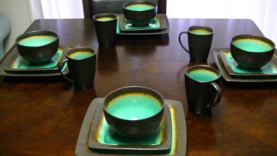 gibson everyday ocean oasis piece dinnerware set turquoise walmartcom with gibson stoneware dishes & Gibson Stoneware Dishes. Free Gibson Elite Piece Dinnerware Set With ...