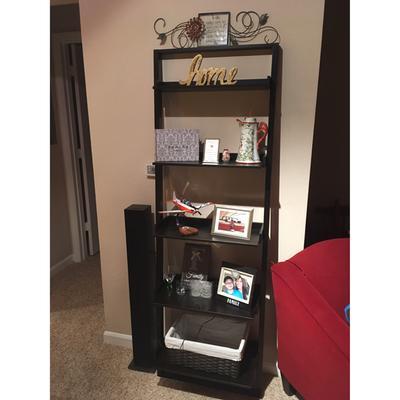 - Mainstays Leaning Ladder 5-Shelf Bookcase, Espresso - Walmart.com