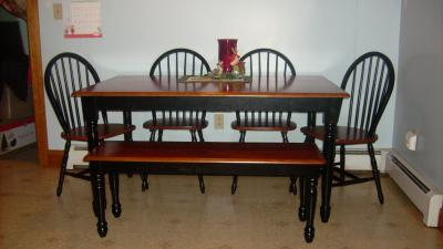 Better Homes And Gardens Autumn Lane Farmhouse Dining Table Black Oak