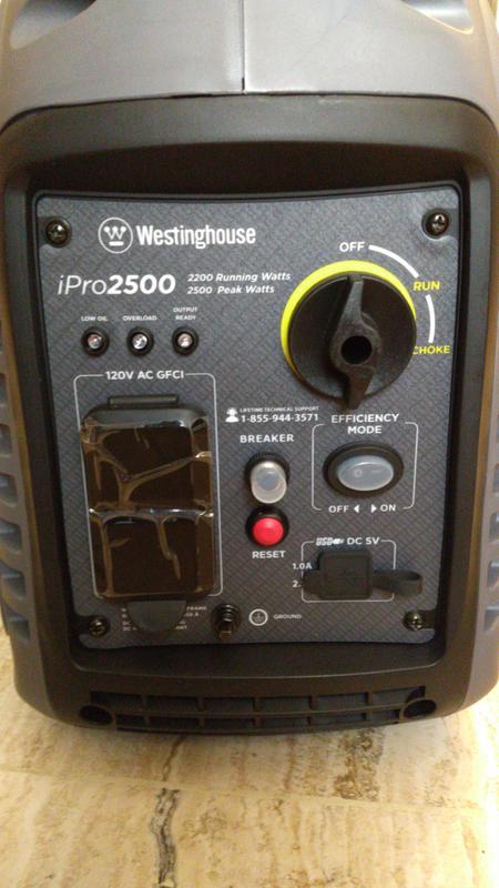Westinghouse iPro2500 2,500 Watt Portable Inverter Generator