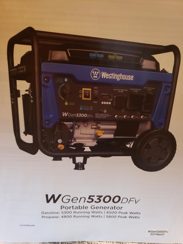 Westinghouse Wgen5300v Generator Westinghouse Outdoor Equipment
