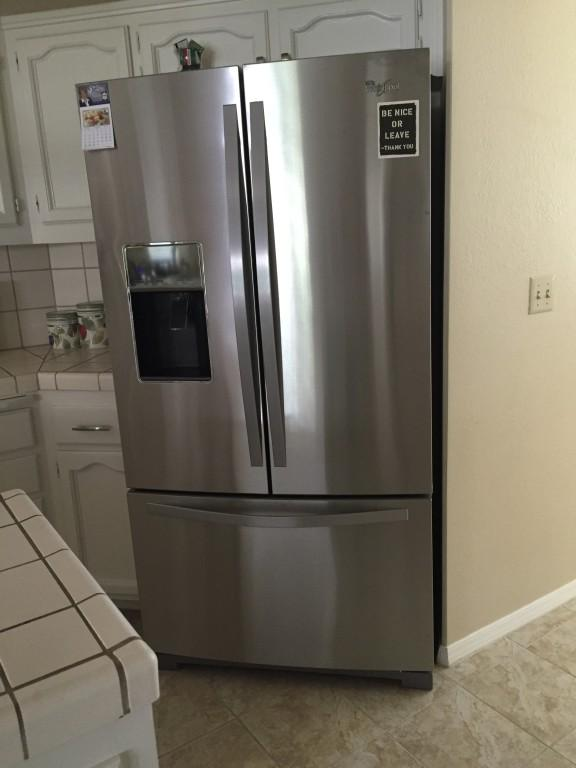 Monochromatic Stainless Steel Cabinet 36-inch Wide French