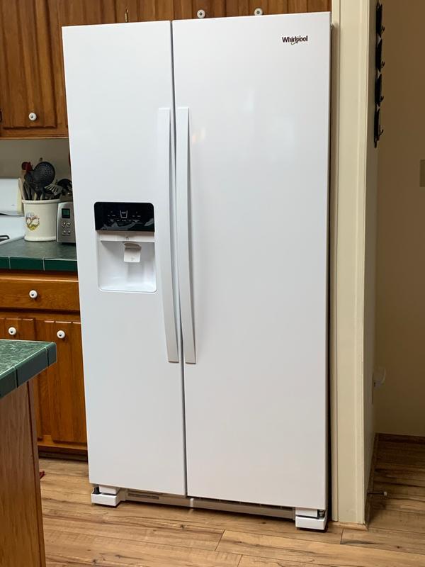 Black 36 Inch Wide Side By Side Refrigerator 25 Cu Ft Wrs325sdhb Whirlpool