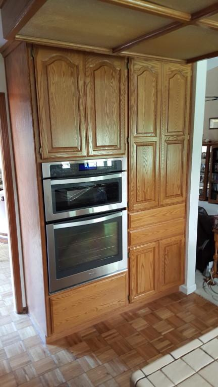 Stainless Steel 6 4 cu  ft  Combination Wall Oven with True