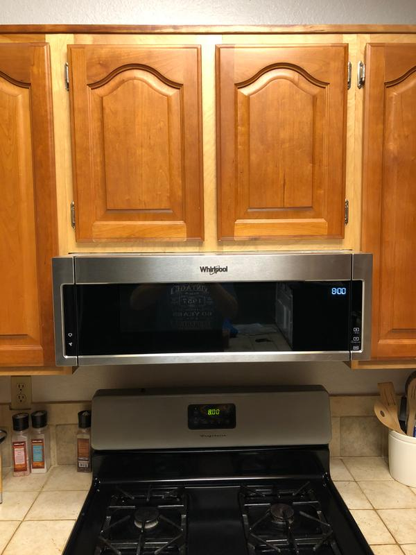 White 1 Cu Ft Low Profile Microwave Hood Combination