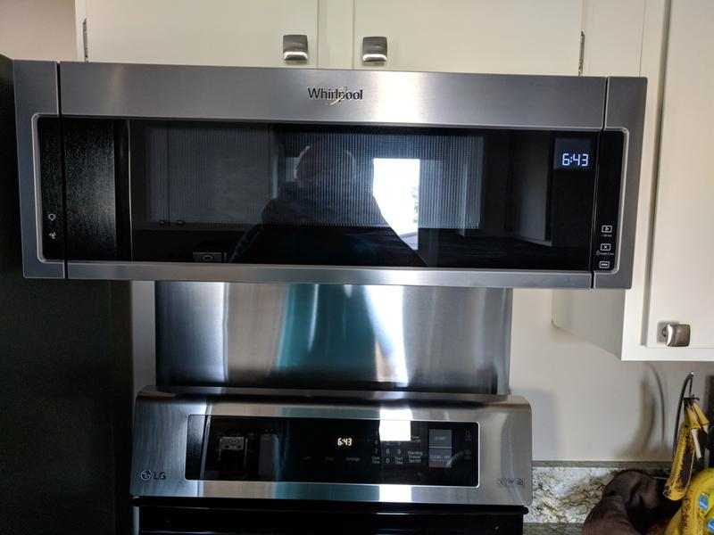 Black Stainless 1 Cu Ft Low Profile Microwave Hood
