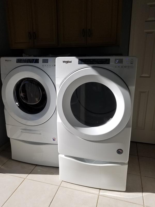 White 4 5 cu  ft  Closet-Depth Front Load Washer with Load