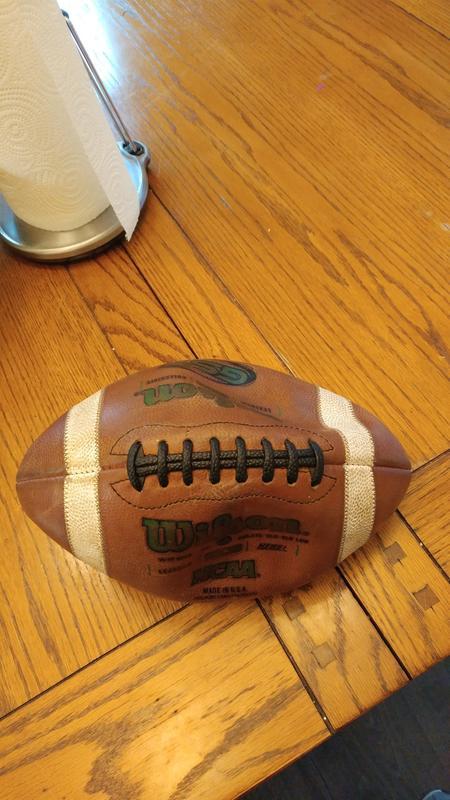 5fa63e3866 GST NCAA 1003 Official Collegiate Pattern Football - Green | Wilson ...