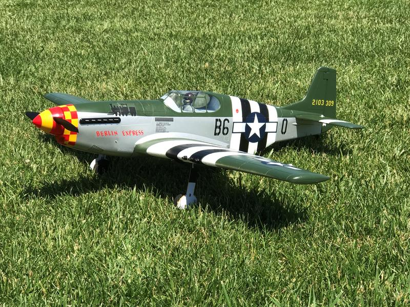 Tower Hobbies P-51B Mustang Berlin Express EP Rx-R 40