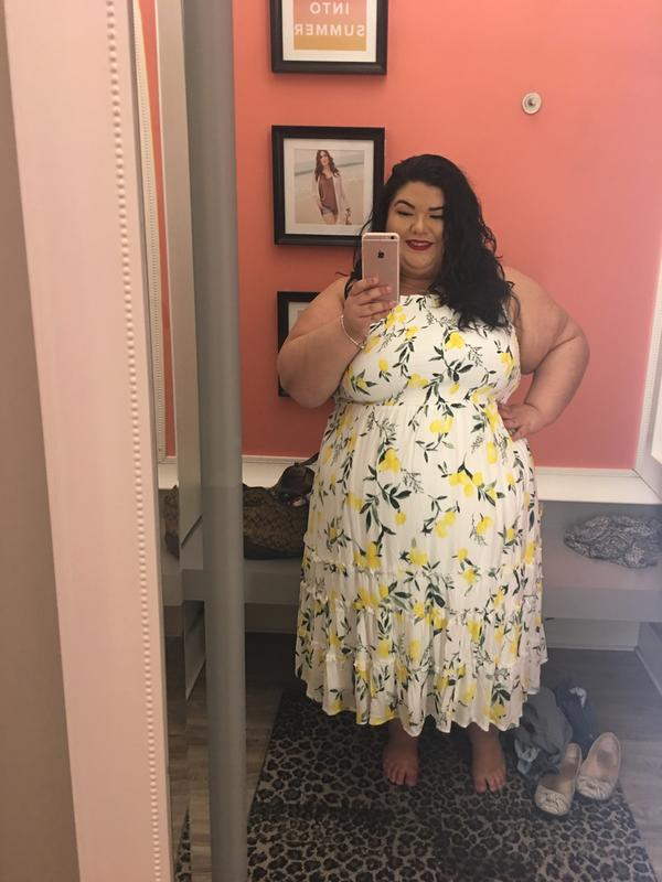 8fe92a55ac White Lemon Smocked Midi Dress - Plus Size | Torrid
