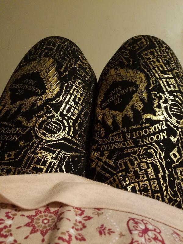 e7a27e080467 Harry Potter Marauders Map Gold Foil Legging - Plus Size | Torrid