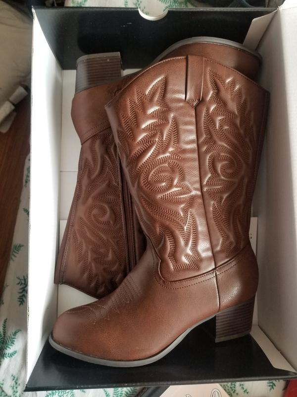 e99e2e2ceec Brown Cowboy Boot (Wide Width & Wide Calf)