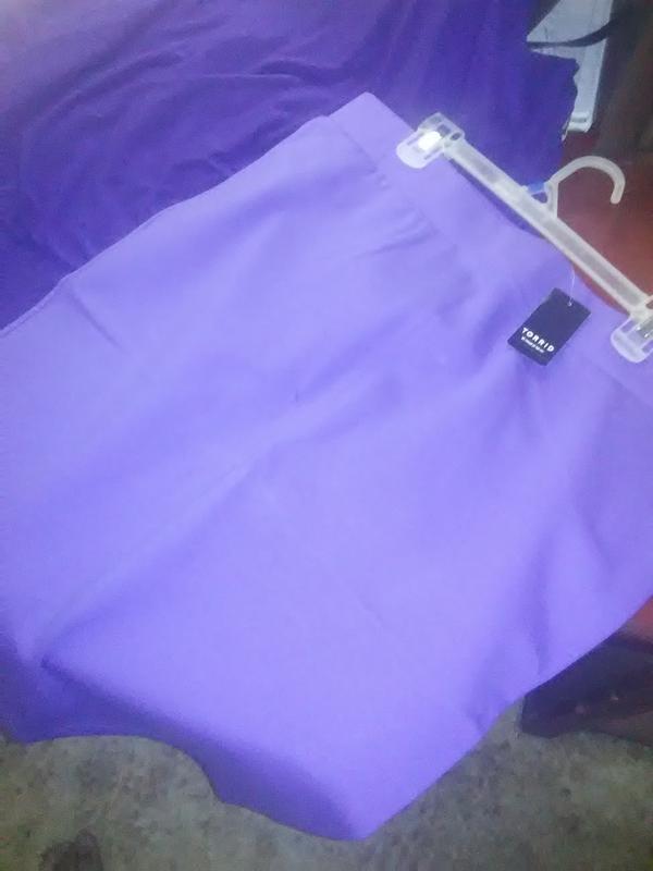 041b8e446 Blue Iris Ponte Pencil Skirt - Plus Size | Torrid