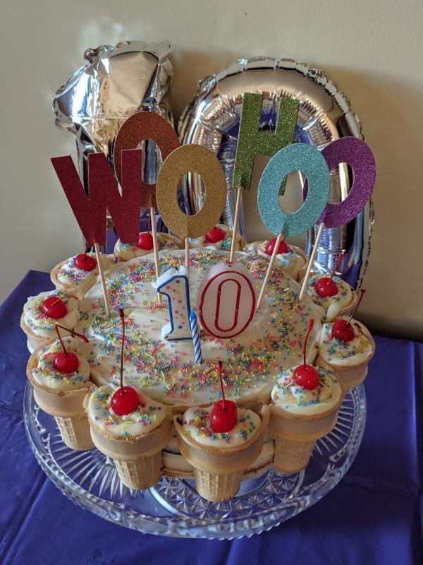 Awe Inspiring Ice Cream Cone Cake Tastefully Simple Personalised Birthday Cards Arneslily Jamesorg