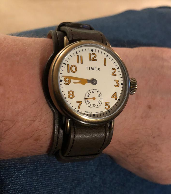 f4e5b85f2 Welton 38mm Leather Strap Stainless Steel Watch | Timex