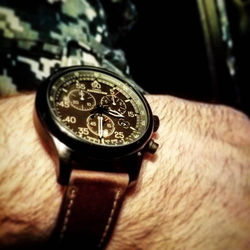 Expedition Field Chronograph 43mm Leather Watch | Timex