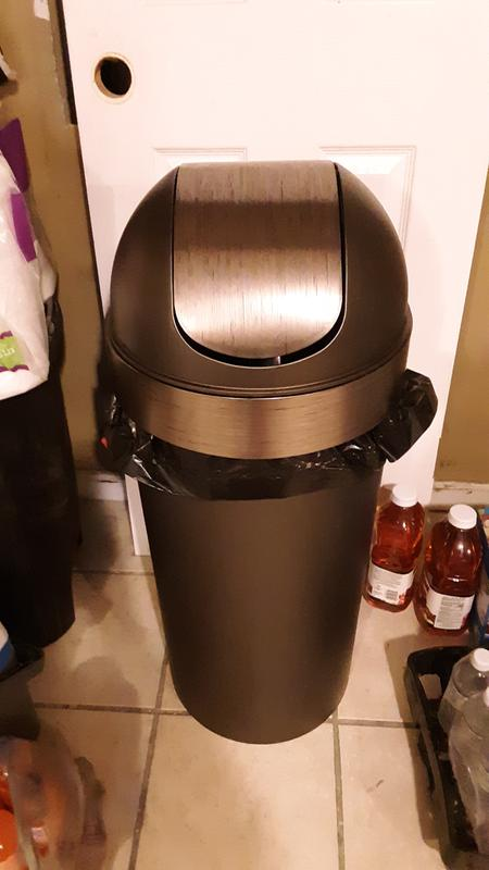 Umbra Venti Swing-Top 16.5-Gallon Kitchen Trash Large 35-inch Tall Garbage Can