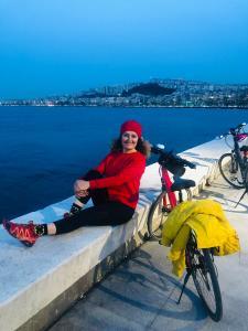 Bisikletle de rahat ve tarz
