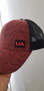 Logo UA avant Orange/Rose. Couleur confirmée par le service clients de UA comme étant la bonne (l'erreur venant donc du site).