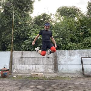 just jump after run