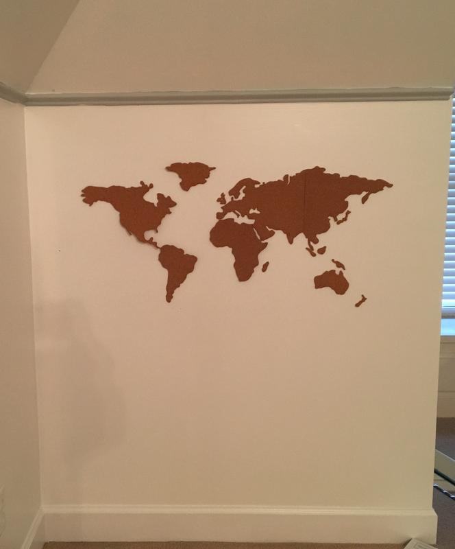 Cork board world map urban outfitters canada reviews gumiabroncs Gallery