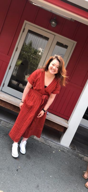 d2d875035713c UO Gabrielle Linen Midi Wrap Dress | Urban Outfitters