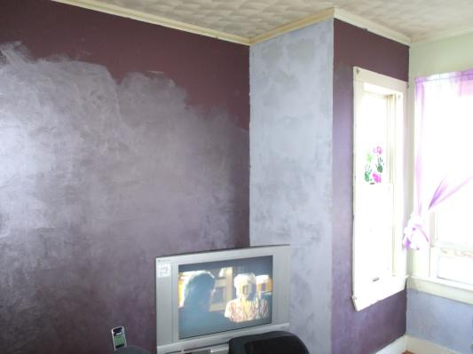 Bedroom Wall Partially Completed Top Half Not Complete Color Selection