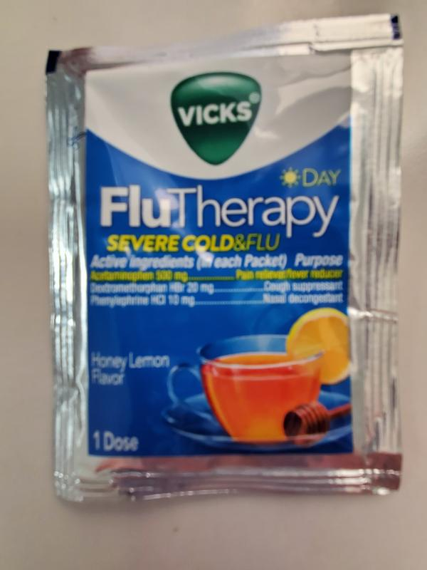 Pick 'n Save - Vicks Day FluTherapy Severe Cold & Flu Honey Lemon Flavor  Hot Drink Packets, 6 ct