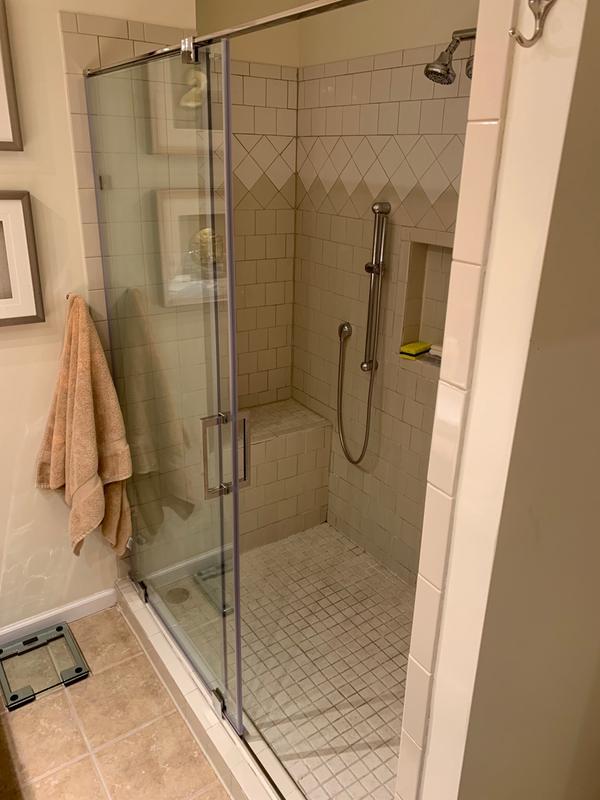 VIGO Ryland Adjustable Frameless Sliding Shower Door