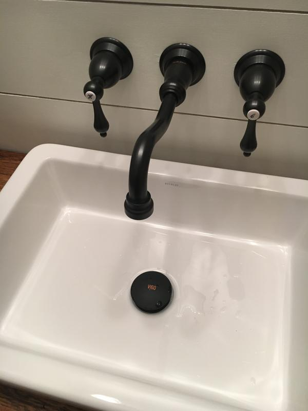VIGO Vessel Bathroom Sink Pop-Up Drain And Mounting Ring