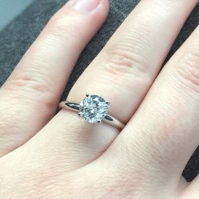 ct stone sidestone t round w tw engagement ring white diamond side nikki in gold