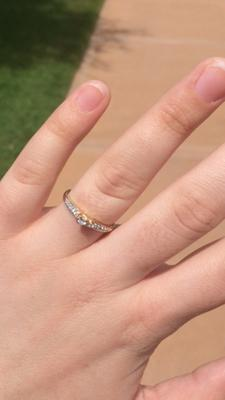 Zales 1/5 CT. T.w. Diamond Heart Accent Promise Ring in 10K Gold kcChTb3